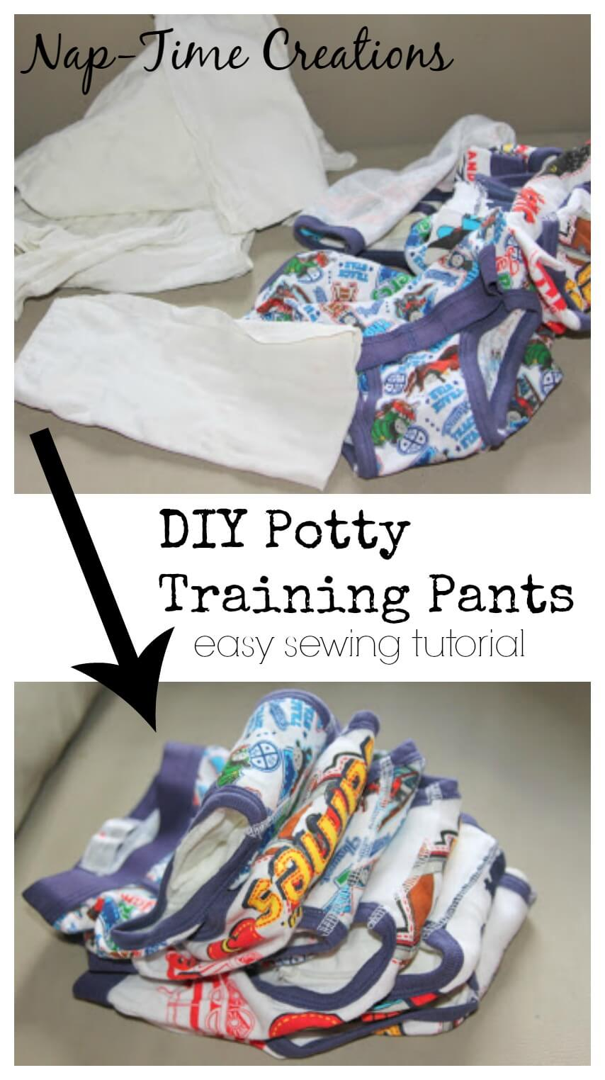 Make your own training pants and easy DIY sewing project from Nap-Time Creations