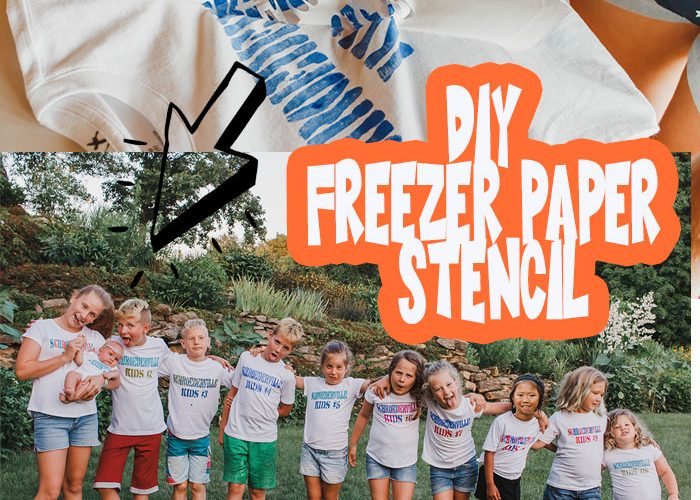 DIY freezer paper stencil