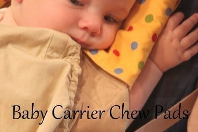 Baby Carrier Chew Pads