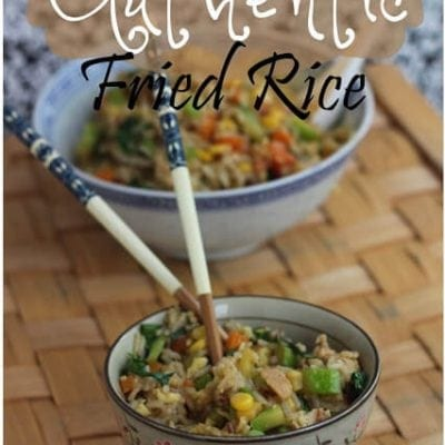 """Authentic"" Fried Rice Recipe"