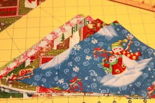 paper piecing tree skirt