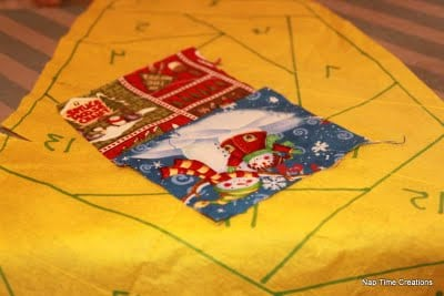 how to make a paper piecing tree skirt