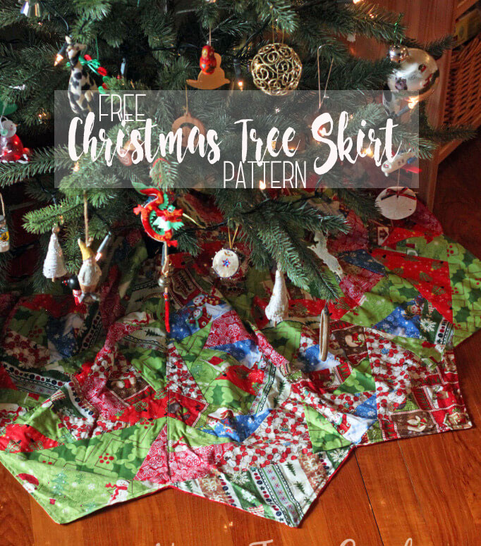 sew a quilted tree skirt with free pattern tutorial