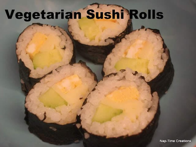 Vegetarian Sushi Rolls and Tasty Tuesday Party.
