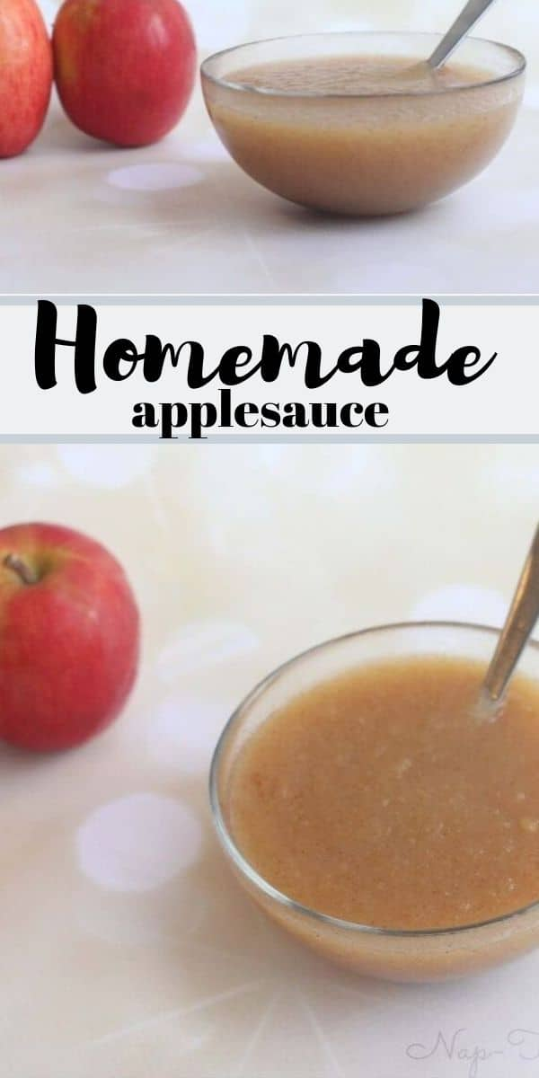 healthy homemade applesauce easy fall recipe from LIfe Sew Savory