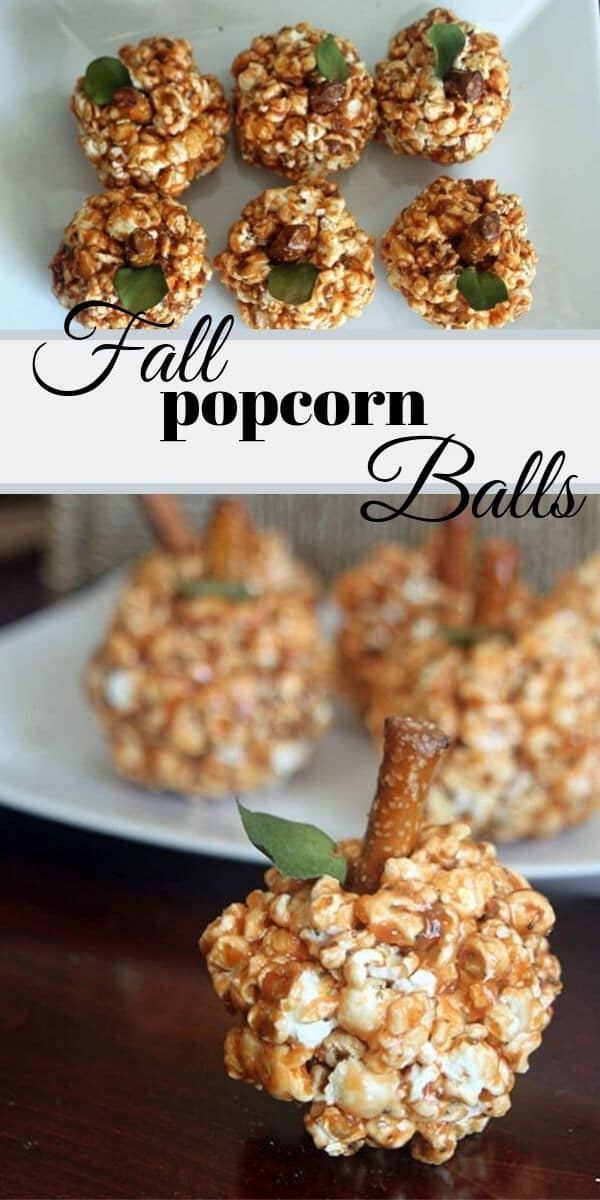 healthier fall popcorn balls fall snacking recipe from Life Sew Savory