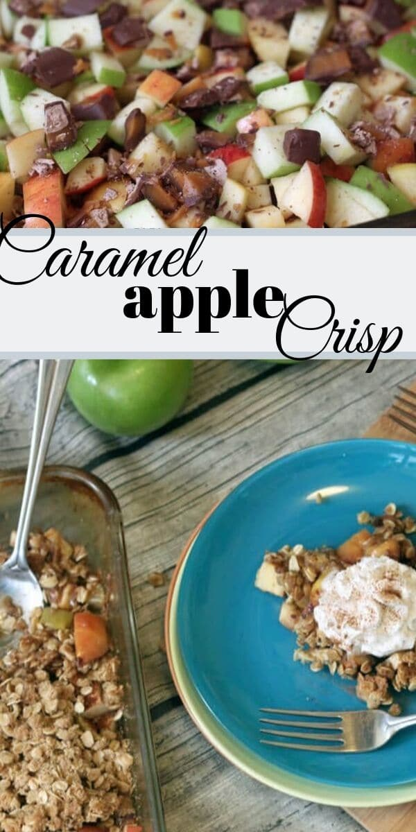 Caramel Apple Crisp classic apple crisp with a caramel twist fall baking recipe from Life Sew Savory