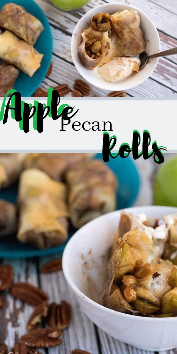 apple pecan roll ups, fall dessert in a wrap recipe from Life Sew Savory