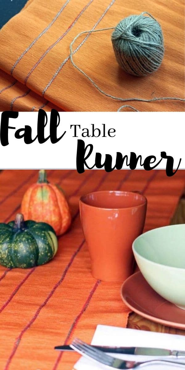 fall table runner tutorial with twine easy fall sewing project from Life Sew Savory