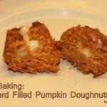 Filled Pumpkin Doughnuts