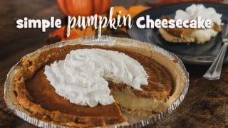 Simple Pumpkin Cheesecake Pie Recipe