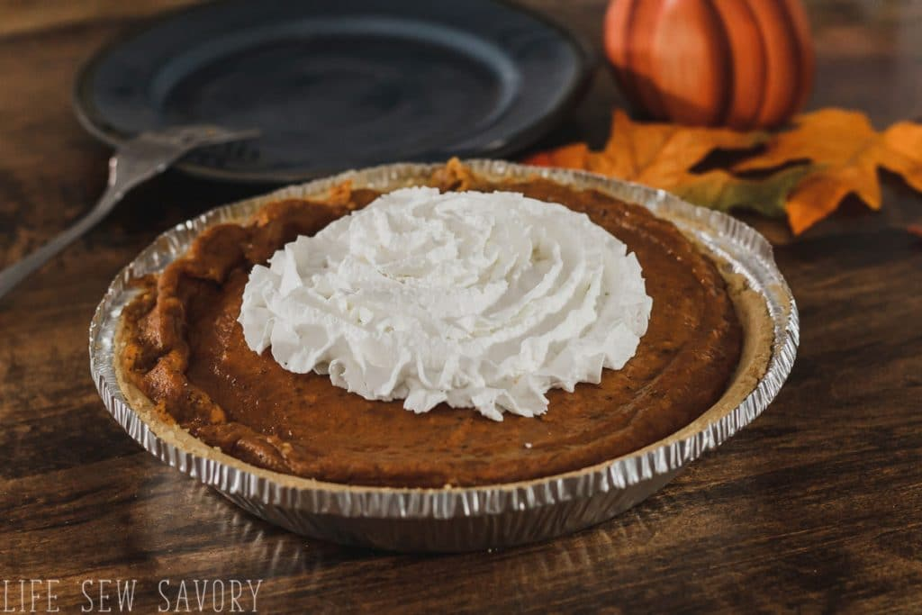 real pumpkin topping on cheesecake pie