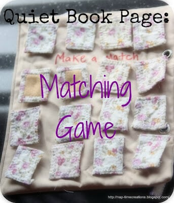 Quiet Book Page: Memory Game