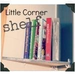 DIY corner shelf {making space in a small kitchen}