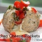 Chicken Pockets with Cheese and Tomato