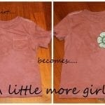 from boy T…. to girly shirt {Tutorial}