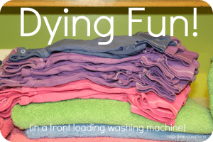 Dying to share…. {Front loading washer fabric dying tips}