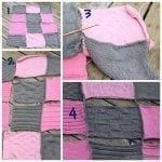 Knit Squares Crocheted Together {Tutorial} Baby Blanket