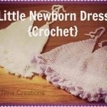 newborn crochet dress {free pattern}