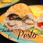 Baked Chicken Pesto Sandwhiches and Tasteful Tuesday