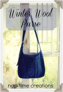 Winter Wool Purse {Tutorial}
