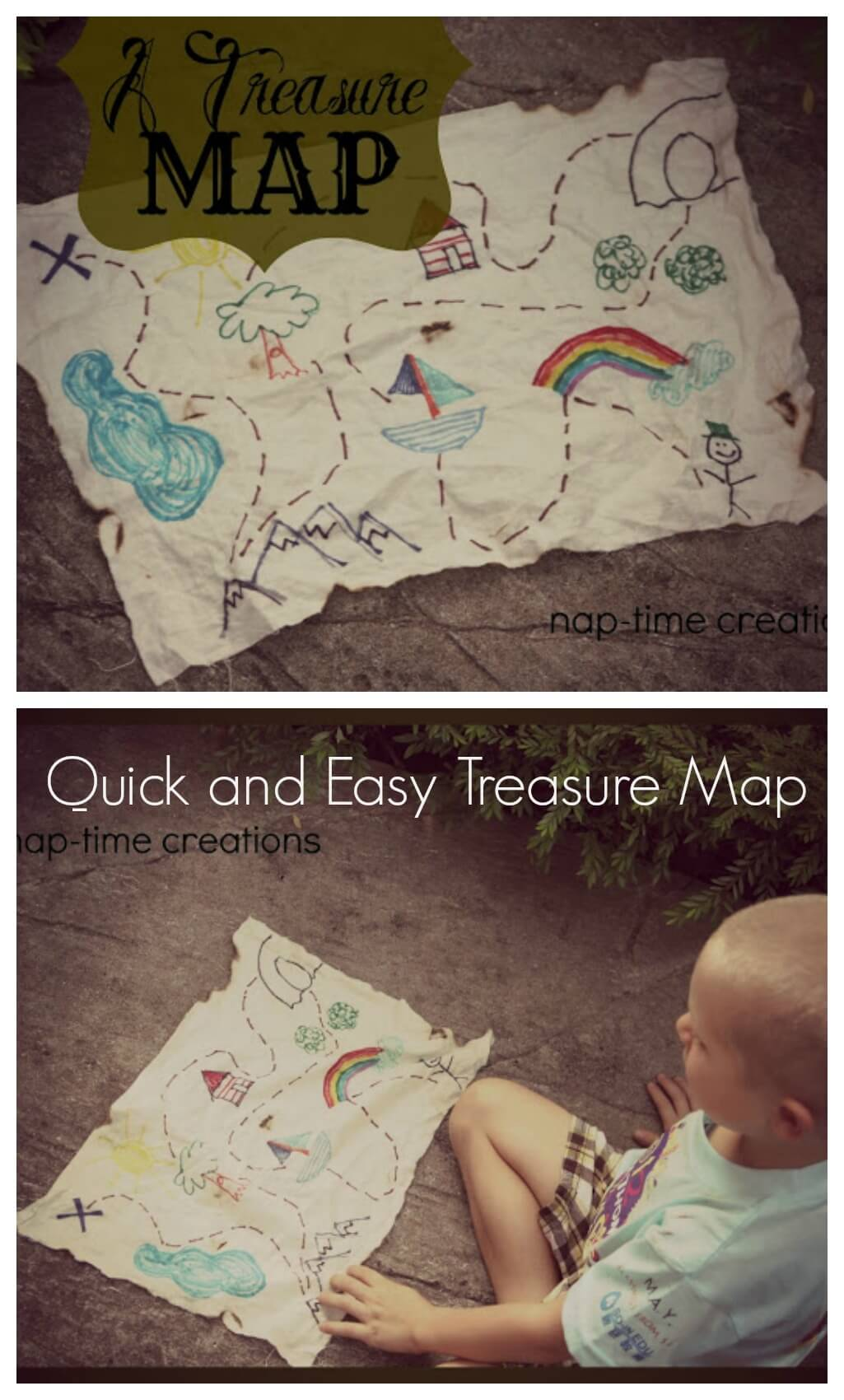 Easy Treasure Map for kids from Life Sew Savory