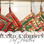 Christmas Potholders {tutorial} Delightful December