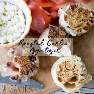 roasted garlic appetizer