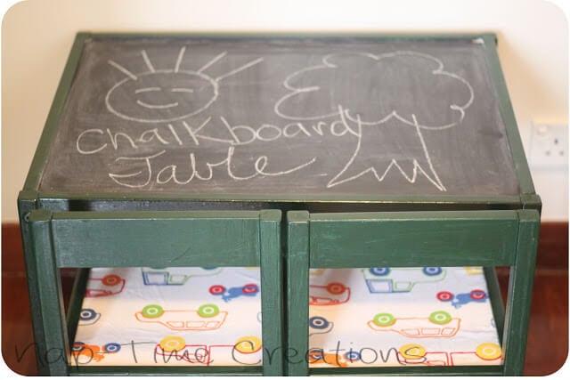 kids chalkboard table for lots of simple fun - easy DIY