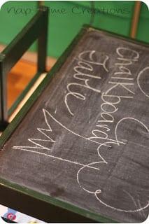 easy kids chalkboard table dIY project for kids