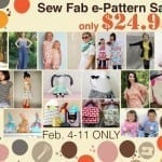 Sew Fab e-Pattern Sale and giveaway!