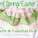 Easter Skirt for Infants/Toddlers {free pattern and tutorial}