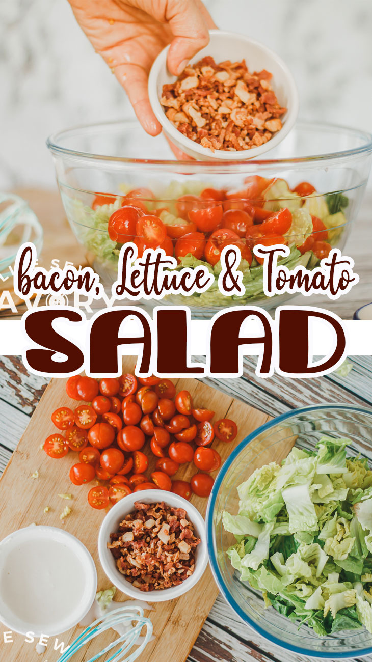 Learn how to make a delicious BLT Salad. Bacon, Lettuce and Tomato make a tasty salad combo. Make this easy salad to go with any summer meal.