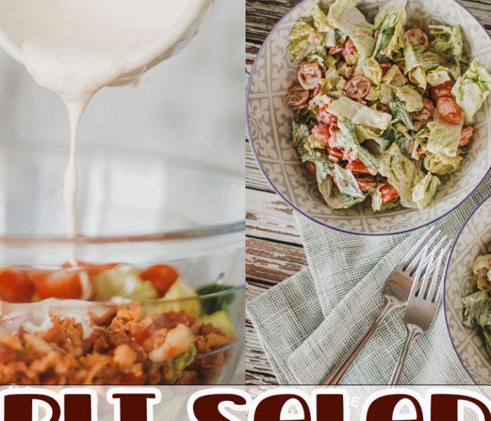 BLT salad recipe from Life Sew Savory