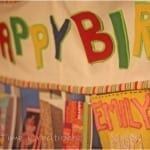 Flashback Friday: No Sew Birthday Sign…{felt craft}