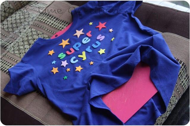 make a fun shirt with bleach design