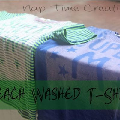 Bleached T-Shirts {kids project}