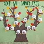 Golf Ball Family Tree {Father's Day Gift idea}