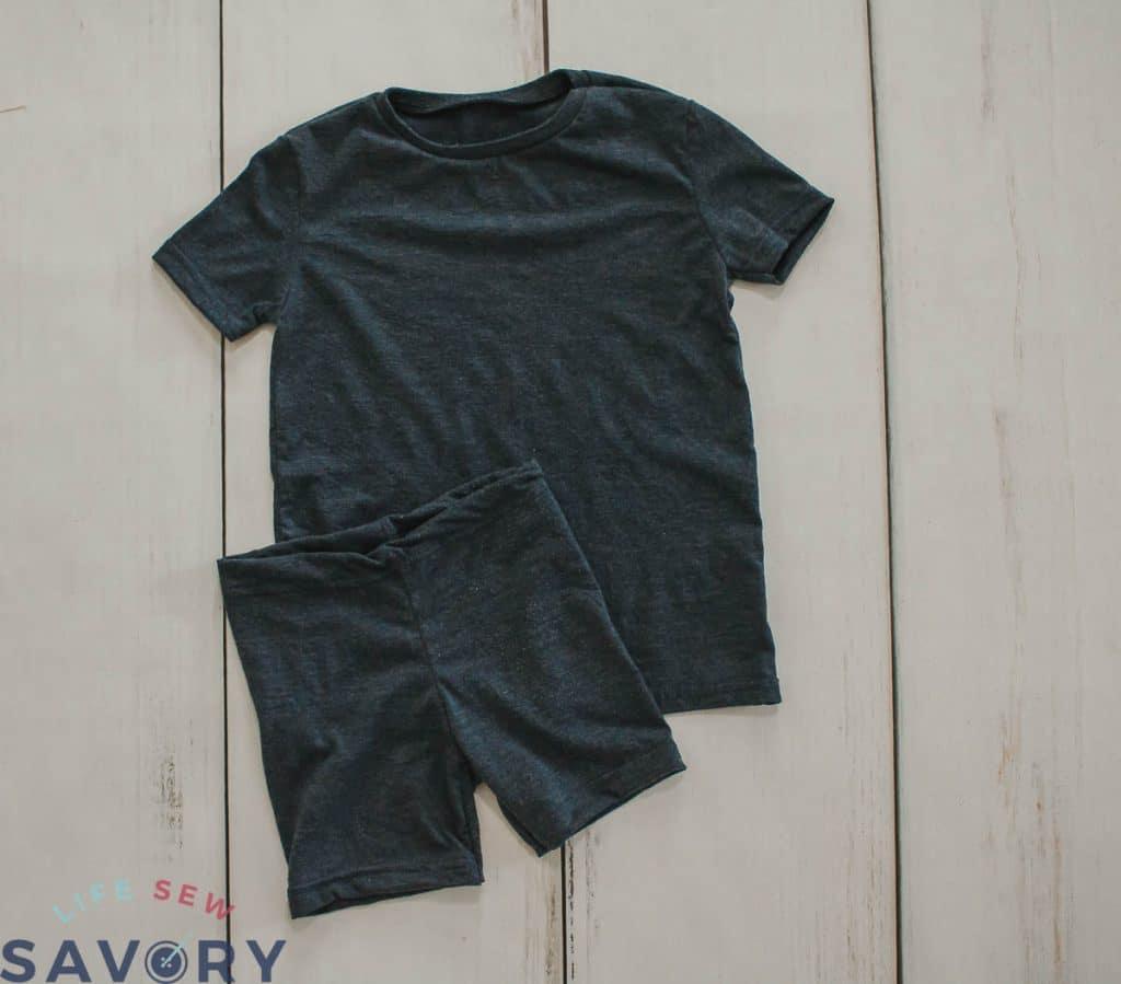 cute pj set from mens shirt
