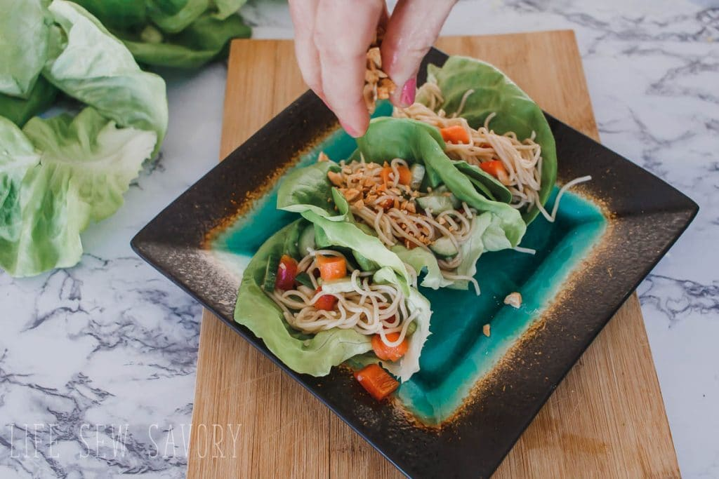 Asian inspired lettuce wraps