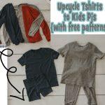 upcycle shirt to kids pjs