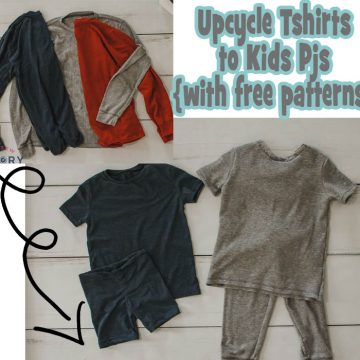 upcycle shirt to kids pjs
