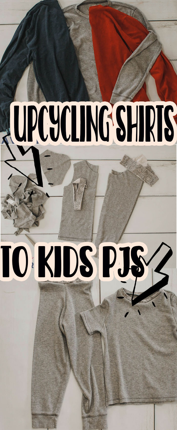 Great ideas for old shirt uses. Upcycle tshirt = Toddler PJ's! I've been reusing men's shirts to make kids pajamas for a decade now and love how easy and economical it is. Plus you can pair this tutorial with my free sewing patterns. via @lifesewsavory