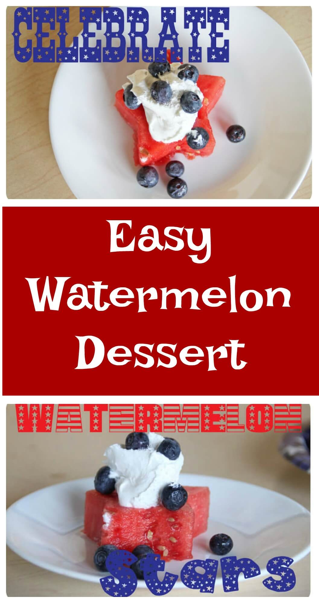 Easy Watermelon Dessert Stars from Life Sew Savory