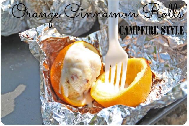 campfire orange cinnamon rolls recipe