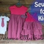 How to sew a Shirt Dress {Sibling Outfits: Sewing for Kids}