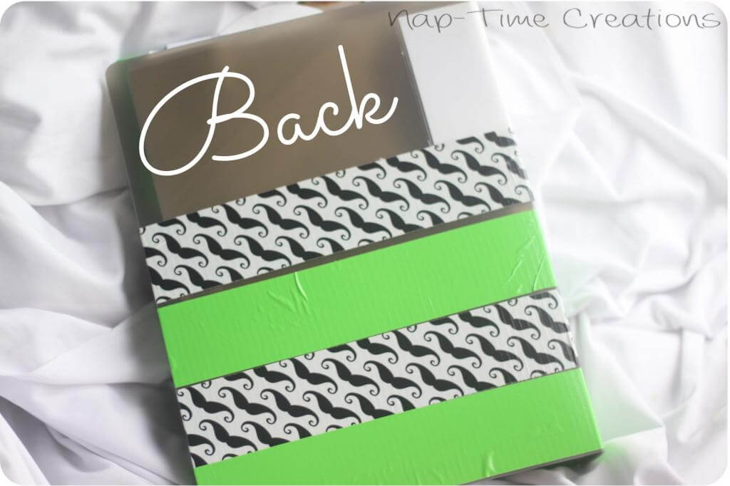 Duct Tape School organization for papers and art
