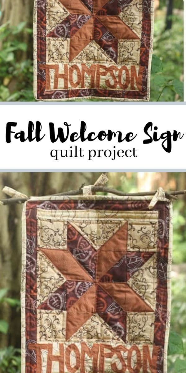 fall welcome sign a quilted sewing project from life sew savory