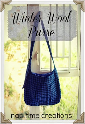 winter wool purse tutorial