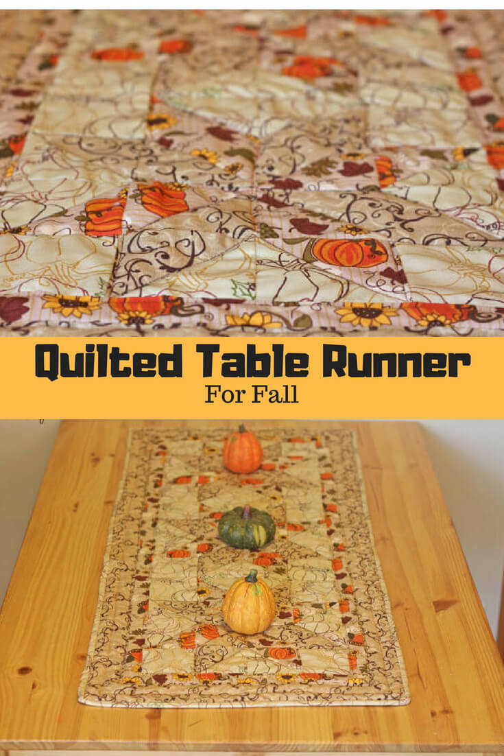 quilted table runner for fall from Life Sew Savory